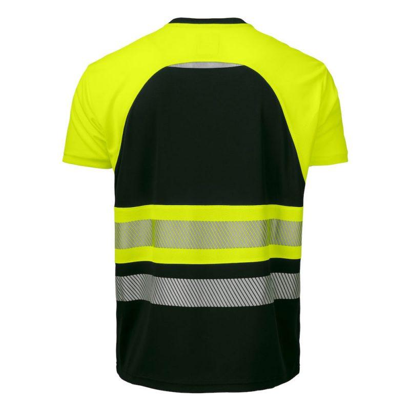 Projob Funktions T Shirt 6020 Gul Svart 2