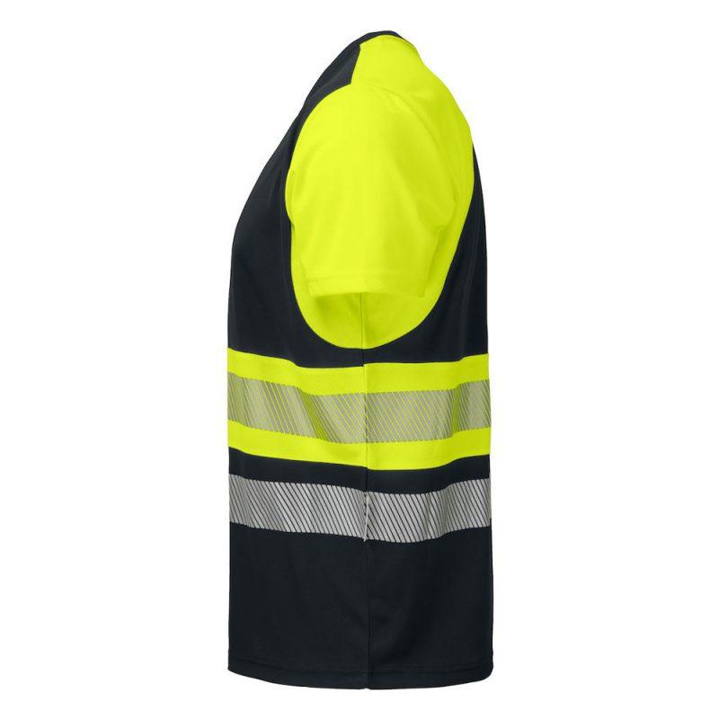 Projob Funktions T Shirt 6020 Gul Svart 3