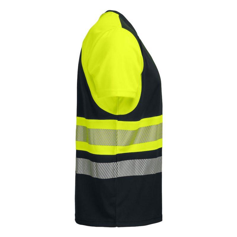 Projob Funktions T Shirt 6020 Gul Svart 4