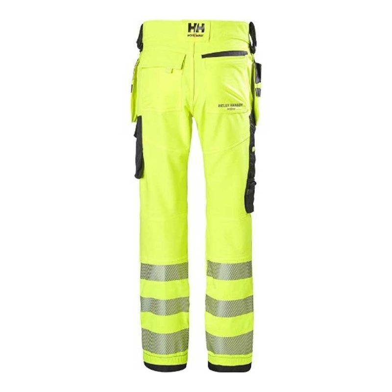 Hh Icu Construction Pant Klass 2 77472 Gul Svart 2